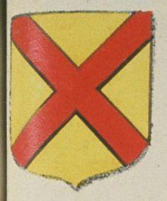 Le Prieuré de S.t André de Mirebeau. Porte : d'or, à un sautoir de gueules | N° 104 > Richelieu