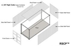 Shipping Container Home - Exploded View