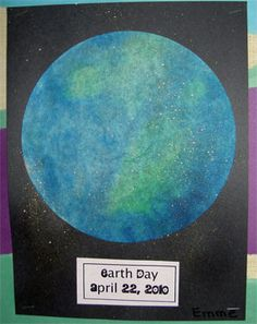 I think this is a great lesson plan for younger students to be able to create a globe. Teachers are able to teach the children a lesson on how there is a lot more water on the globe then land. I loved how they used this as an activity for Earth Day.