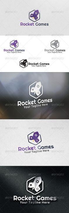 Rocket Games  - Logo Design Template Vector #logotype Download it here: http://graphicriver.net/item/rocket-games-logo-template/6030702?s_rank=1115?ref=nesto