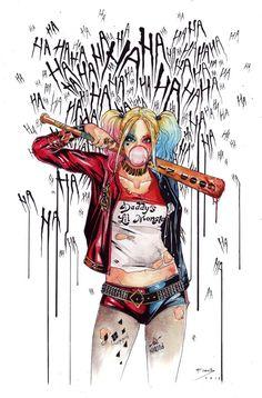 The Happy Sorceress, Harley Quinn - Margot Robbie by Carella Francesca...