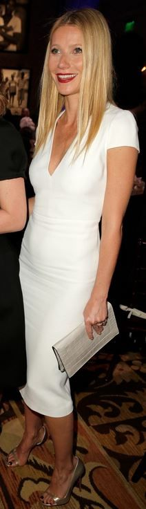 Gwyneth Paltrow: Dress – Burberry  Shoes – Christian Louboutin