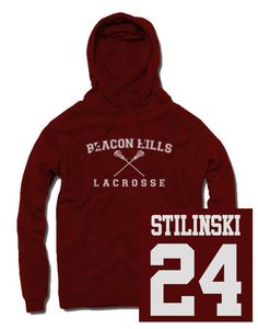 Teen Wolf Stilinski Beacon Hills Lacrosse Hoodie I WANT THIS SO MUCH