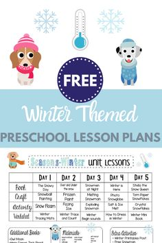 Looking for for winter themed preschool lesson plans? Check out these free plans with a week's worth of winter themed crafts and activities! It's all done for you and free to print! Preschool Lesson Plans, Preschool Books, Free Preschool, Space Preschool, Preschool Science, Infant Lesson Plans, Preschool Learning, Preschool Ideas, Preschool Crafts