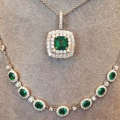 """Emeralds"" said Mr. Rabbit. ""Emeralds make a lovely gift.""- Maurice Sendak, Mr. Rabbit and the Lovely Present. #emeralds #lovelygift #mrrabbit #mauricesendak #brombergsjewelry #emeraldnecklace"