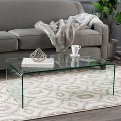 Coffee Table Made of Tempered Glass Modern Chic and Stylish Living Room Furniture