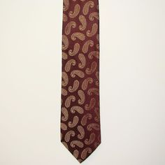 Jos A Bank Signature Collection Mens Paisley 100% Silk Neck Tie Necktie 60in #JosABank #Tie