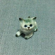 Miniature Ceramic Cat Kitty Baby Pet Mini by thaicraftvillage