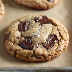 SO FLAVORFUL & CHEWY. No mixer required! Brown Butter Chocolate Chunk Cookies