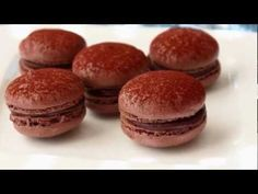 (Gluten Free!) Dark Chocolate Macarons:  Makes 18 finished cookies  *Weighing the ingredients is critical.   100 gram powdered sugar  50 grams almond meal (almond flour, the finer the better)  25 grams unsweetened cocoa powder  2 large room temperature egg whites  65 grams granulated sugar  For chocolate ganache:  1/3 cup hot heavy cream  4 ounces dark chocolate, chopped  pinch of salt  *pour hot cream over chocolate, and stir until smooth. Allow to cool slightly before filling cooled…