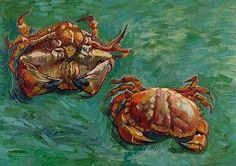 Vincent van Gogh Two Crabs painting is shipped worldwide,including stretched canvas and framed art.This Vincent van Gogh Two Crabs painting is available at custom size. Vincent Van Gogh, Art Van, Paul Gauguin, Van Gogh Arte, Oil Canvas, Canvas Art, Joseph Mallord William Turner, National Gallery, Van Gogh Museum