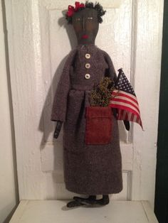 Primitive~folk Art~Handmade Doll~original   #NaivePrimitive