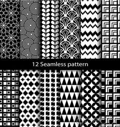 Black and white minimalist background vector