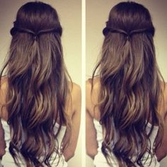 Long, brown hair. So pretty!