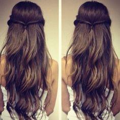 Long, brown hair. So pretty!