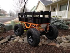 {I need to Build one like this, for a Tree Work Cart. I would just carry Saws and Accessories in it, but I would make a bigger bed! Custom Radio Flyer Wagon, Radio Flyer Wagons, Robotics Projects, Welding Projects, Beach Wagon, Fishing Cart, Kids Wagon, Welding Cart, Toys Land