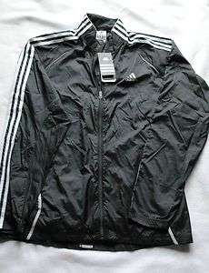 Men's Adidas Black Running Wind Jacket Size Large New w Tags Free Shipping Starting Bid $14.99 Buy it Now $29.99