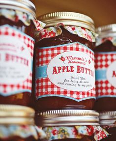 favors at a farm party can be homemade jams or bottled fruit