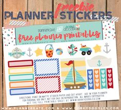 Free Printable Sailing Planner Sticker from Dorky Doodles