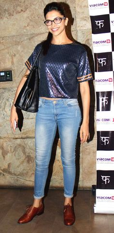 Deepika Padukone at the screening of Queen. #Style #Bollywood #Fashion #Beauty