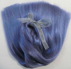 DOLL HAIR EXTRALONG D.Sky Blue-Ooak-BJD-Pullip-Blythe-viscose-alpaca-reroot-wig #Unbranded