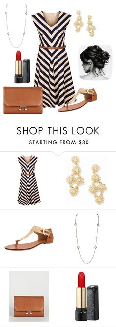 """Nautical"" by justemma1435 ❤ liked on Polyvore featuring Louche, Ann Taylor, Diana Warner, Karen Millen and Lancôme"