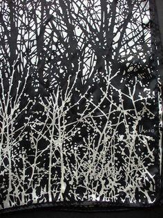 """Vera Neumann scarf """"the birches"""" by vintage4u_me, via Flickr"""