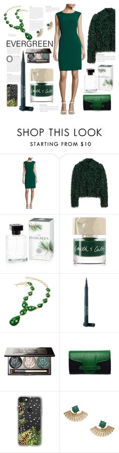 """Evergreen"" by queenofsienna ❤ liked on Polyvore featuring Nipon Boutique, Mulberry, Martha Stewart, Smith & Cult, Amrita Singh, Laura Geller, Chantecaille, Emeline Coates, Casetify and nailart"