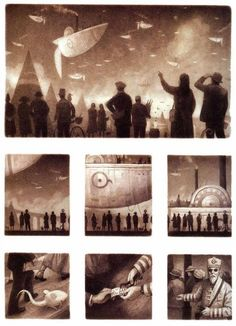The Arrival by Shaun Tan Shaun Tan, Movie Posters, Painting, Art, Log Projects, Art Background, Film Poster, Painting Art, Kunst