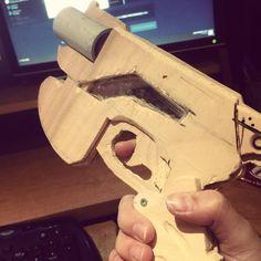 My D.VA gun is coming together! #cosplayprogress #wip #cosplay #overwatch #dva #dvacosplay #dvaoverwatch #props #cosplayprop