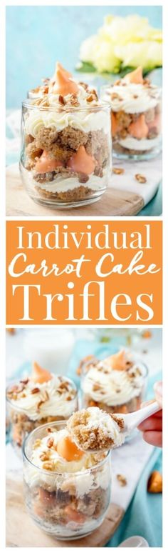 These Individual Carrot Cake Trifles