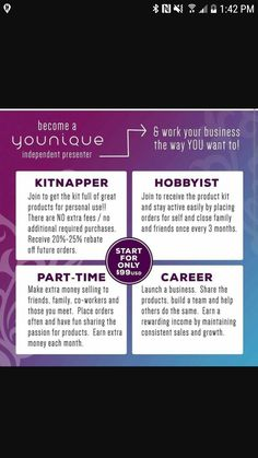 For all you lovely ladies or gents who arent sure if you want to take the full plung into a online bizz .. Witj younique you dont have to you can get the kit with no obligation after .. and walk away with amazing product..  #NoFees  #noobligation  #noloyalcustamors  #greatrewards   Please friend me in facebook Natasha Reinholz to find out more or go to my webpage www.youniqueproducts.com/natashareinholz