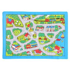 Round Rugs DonnieAnn Company Paradise Design Street Map Kids Rug Wayfair