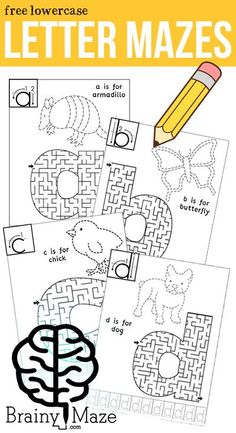 These Animal Alphabet Worksheets feature Reading, Tracing, Writing, Letter Formation and a fun lowercase letter maze! Alphabet Tracing, Alphabet Crafts, Animal Alphabet, Alphabet Worksheets, Alphabet Activities, Craft Activities For Kids, Group Activities, Learning Letters, Fun Learning
