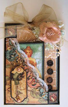 Zengle, Carol Murphy ATCs,altered cards, ATCs, assemblage, bottles, dolls,Zentangle mixed media art dolls, bottle dolls,canvas, encaustic ar...