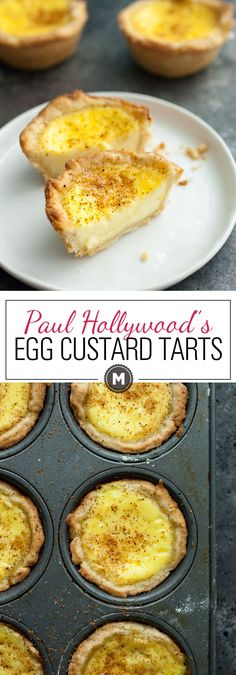 Tarts Egg Custard Tarts: Inspired by The Great British Baking Show, I tried my hand at a classic Egg Custard Tart. The results were mostly successful and definitely delicious! Tart Recipes, Baking Recipes, Sweet Recipes, Dessert Recipes, Baking Ideas, Egg Recipes, Sauce Recipes, Pastries Recipes, Delicious Recipes