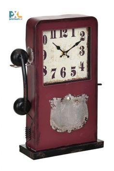 Dekoratívne hodiny, ktoré sa môžu stať dokonalým doplnkom Vašej domácnosti, kancelárie, pracovne alebo obývačky. Clock, Phone, Home Decor, Watch, Telephone, Decoration Home, Room Decor, Clocks, Home Interior Design