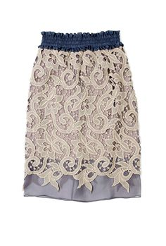 Lace Overlayed Pencil Skirt by Carven
