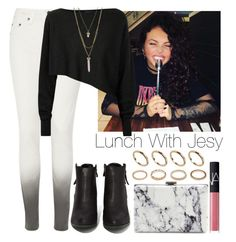"""Lunch with Jesy"" by lovatic92 ❤ liked on Polyvore featuring rag & bone/JEAN, Crea Concept, N.Y.L.A., BCBGeneration, Balenciaga, NARS Cosmetics, ALDO, Forever 21, Lunch and littlemix"