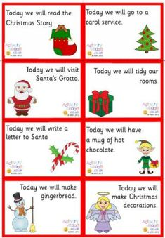 Advent lunch box notes