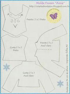 Frozen - roupa Ana