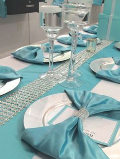 Tiffany OFF! Tiffany and Company Bridal/Wedding Shower Party Ideas Tiffany Blue Party, Tiffany Theme, Tiffany Wedding, Tiffany And Co, Tiffany Blue Weddings, Tiffany's Bridal, Blue Bridal, Purple Wedding, Gold Wedding
