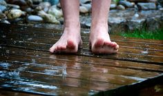 Want a refreshing break in your day, or to just cool down after a hot day? Get your feet in some cold water!  It may just help you sleep better this summer.