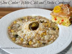 Slow Cooker White Chili and Fiesta Cornbread with Lindsay Peppers from Save Mart