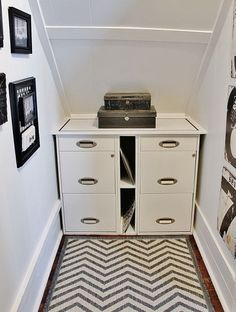 Create a Home Office Under the Stairs