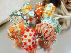 Handmade lampwork glass beads Artisan glass by AvasBeadGarden, $54.00