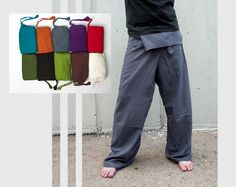Thai Fisherman Pants ,Yoga Pants Plain Color , Men / Women on Etsy, $27.19 CAD