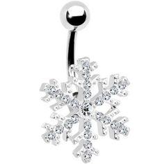 Piercing pour le Nombril - Bijou cristallin et flocon de neige sur Amazon.fr ♥