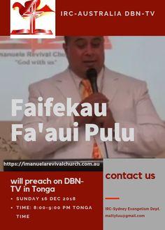 IRC-Australia DBN-TV Sunday 16 December 2018 – Faifekau Fa'aui Pulu – FB Ad