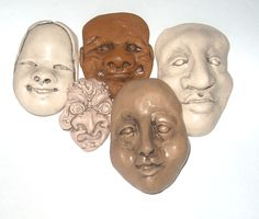 Clay Masks Art for Sale | Polymer Clay | Tougaloo College Art Colony